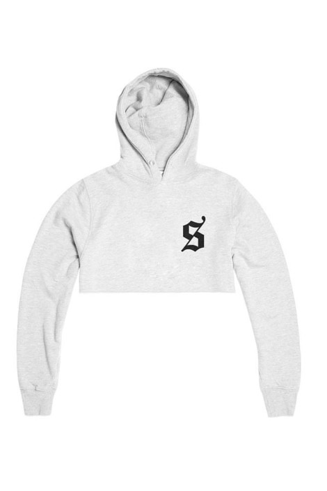 Dollas Cropped Hoodie White