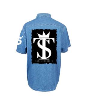 Unisex Oversize Denim Short Sleeve Shirt