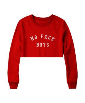 No Fxck Boys Crop
